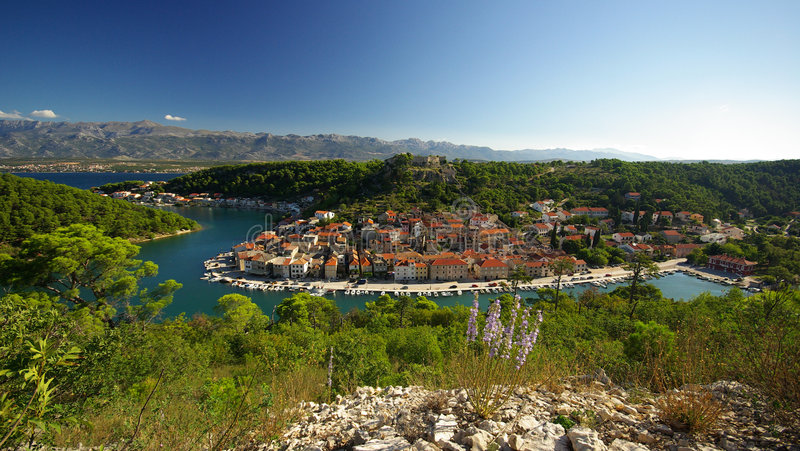 Novigrad 14. The old town Novigrad in Croatia stock image