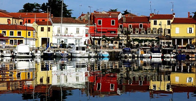 Novigrad marina, Kroatien royaltyfria bilder