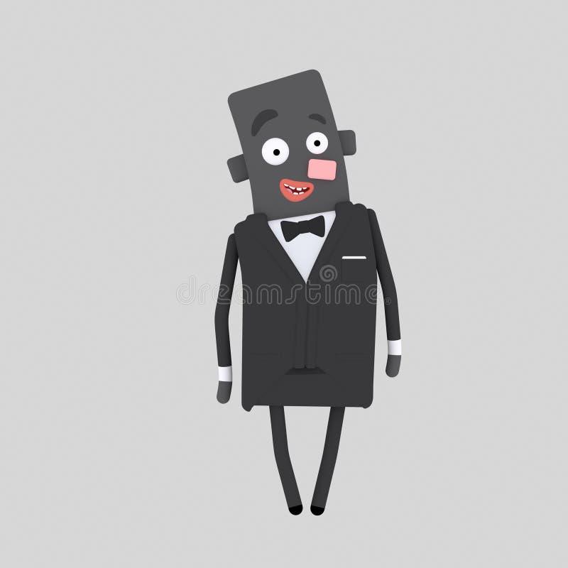 Novio negro 3d libre illustration