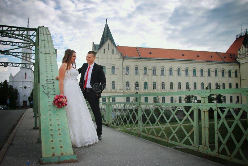 Novio y novia fotografía de archivo libre de regalías