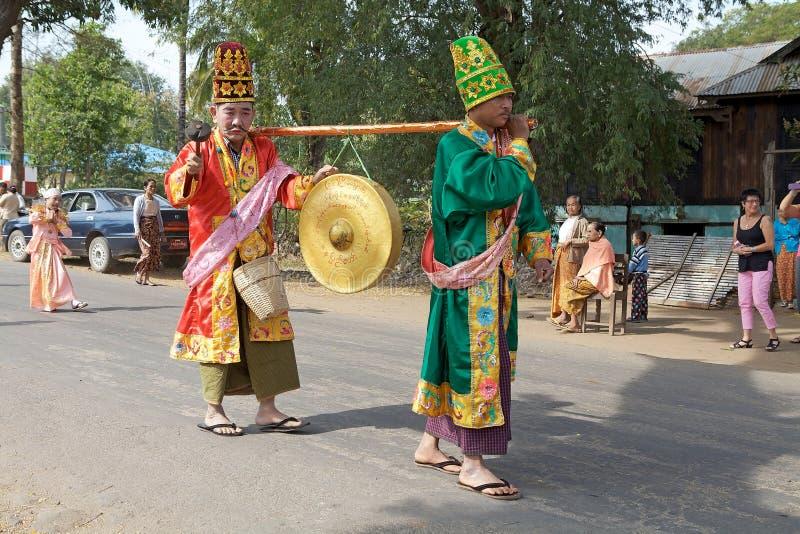 Novitiation ceremony in Myanmar stock photos