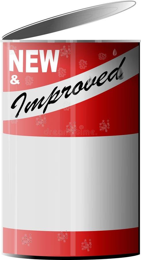 Download Novo & melhorou 2 ilustração stock. Ilustração de lata - 57729