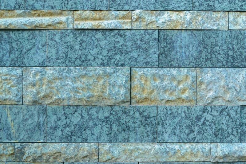 Novo moderno de pedra azul da parede tomando partido fotos de stock royalty free