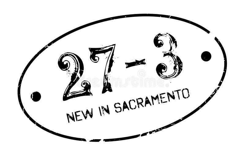 Novo no carimbo de borracha de Sacramento ilustração royalty free