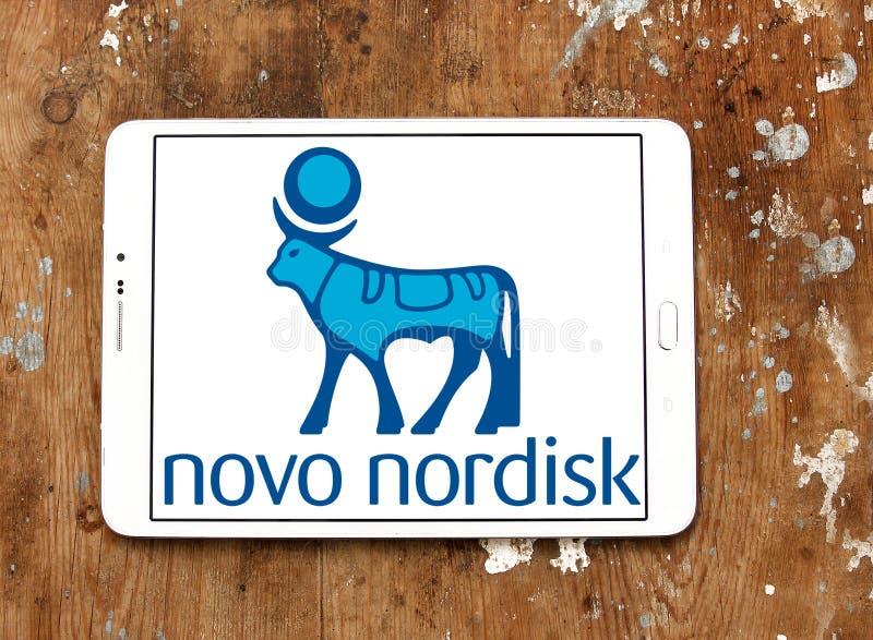 Novo Nordisk firmy farmaceutycznej logo zdjęcia royalty free