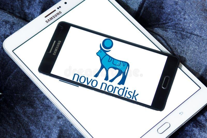 Novo Nordisk firmy farmaceutycznej logo obrazy royalty free