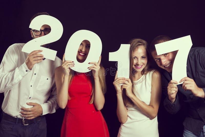 ` Novo s Eve Party de 2017 anos fotos de stock