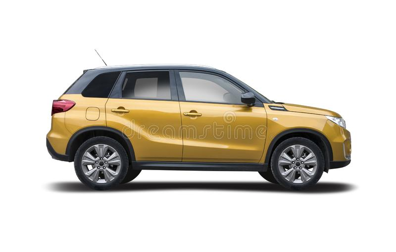 Novo Suzuki Vitara isolado em branco fotos de stock royalty free