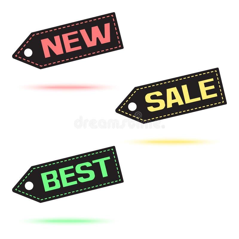 novo Venda melhor Ícone colorido do preço com sombra colorida Vetor ilustração do vetor