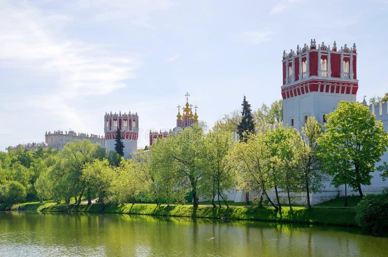 Novodevichy修道院在莫斯科,俄罗斯 免版税库存图片