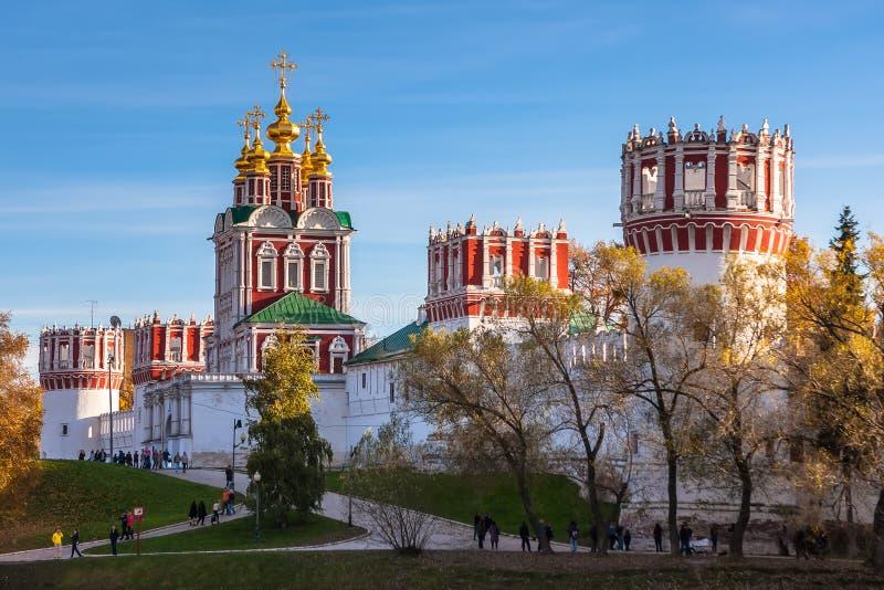 Novodevichy修道院,莫斯科,俄罗斯 库存图片