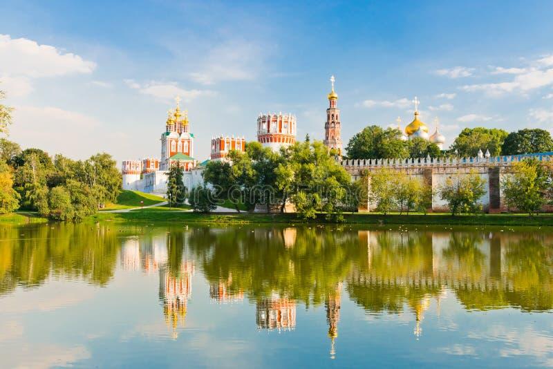 Novodevichy女修道院在莫斯科 库存图片