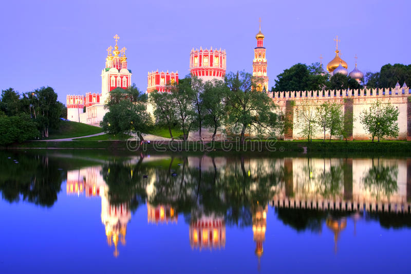novodevichy的女修道院 免版税图库摄影
