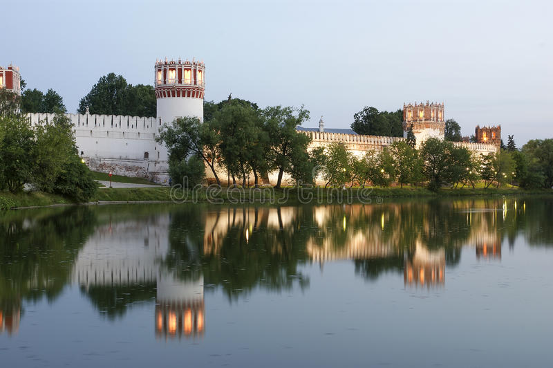 Download Novodevichy Convent (at Night), Moscow, Russia Stock Photo - Image: 25705440