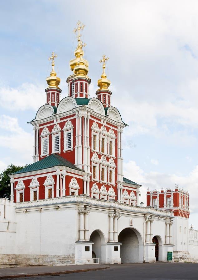novodevichy klasztor kościelna brama zdjęcia royalty free