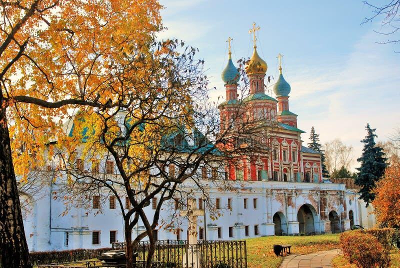 Novodevichy-Kloster in Moskau im Herbst lizenzfreie stockfotografie