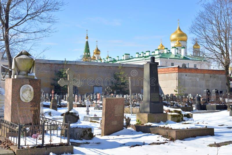 Novodevichye cmentarz w StPetersburg obrazy royalty free