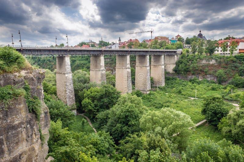 Bridge in Kamianets Podilskyi royalty free stock photo