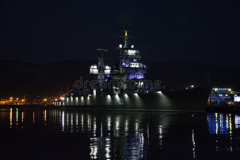 Novorossiysk, Russia, june 2019, cruiser Admiral Kutuzov royalty free stock image