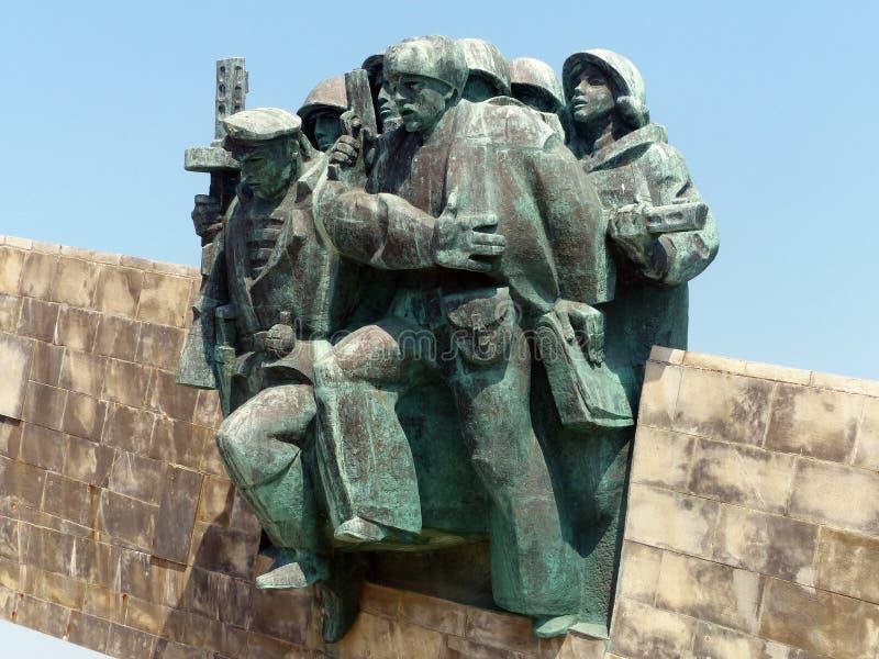 Novorossiysk, Russie ` Commémoratif de Malaya Zemlya de ` Soldats de la cavalerie le 4 février 1943 closeup Ville de héros de Nov photos stock