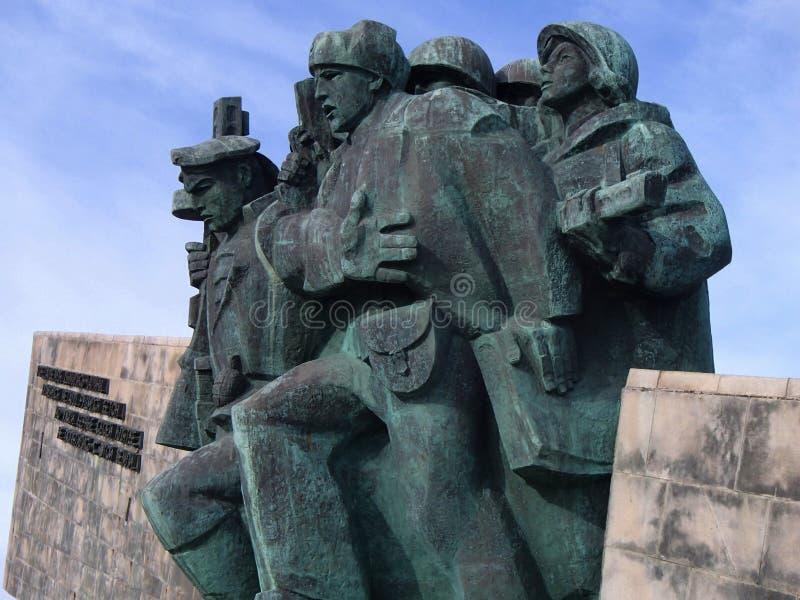 Novorossiysk, Russie ` Commémoratif de Malaya Zemlya de ` Soldats de la cavalerie le 4 février 1943 Plan rapproché Ville de héros image libre de droits