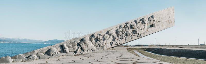 NOVOROSSIYSK, RUSSIE, le 9 février 2016 : Mémorial de guerre Malaya Zeml images libres de droits