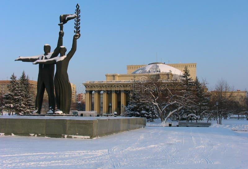 Novosibirsk-Operen-und Ballett-Theater stockfotos