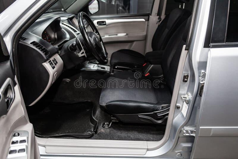 Novosibirsk Rosja, Marzec, - 10, 2019: Mitsubishi Pajero sport obrazy stock