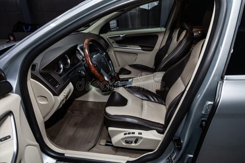 Novosibirsk Rosja, Styczeń, - 25, 2019: Volvo XC60 fotografia royalty free