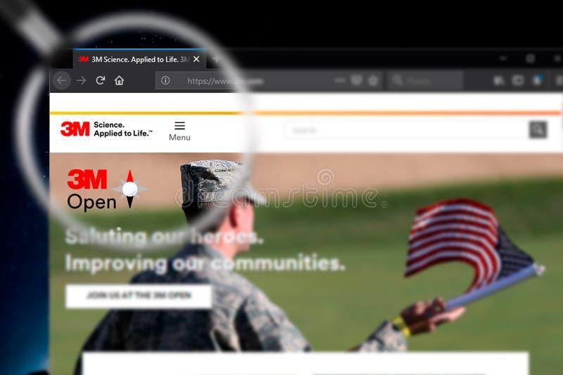 Novosibirsk, Rusia - 18 de junio de 2019 - editorial ilustrativo del homepage de la página web de 3M Company logotipo de 3M Compa imagen de archivo