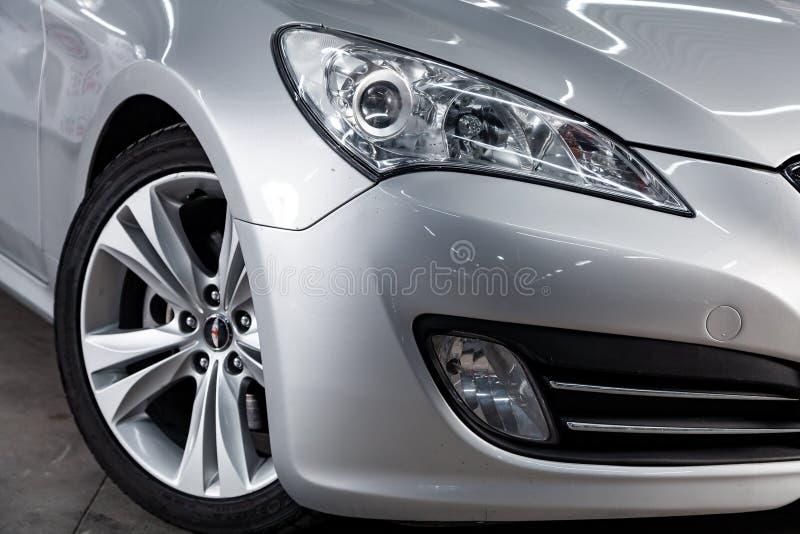 Novosibirsk, Rusia - 20 de mayo de 2019: Hyundai Genesis imagen de archivo libre de regalías