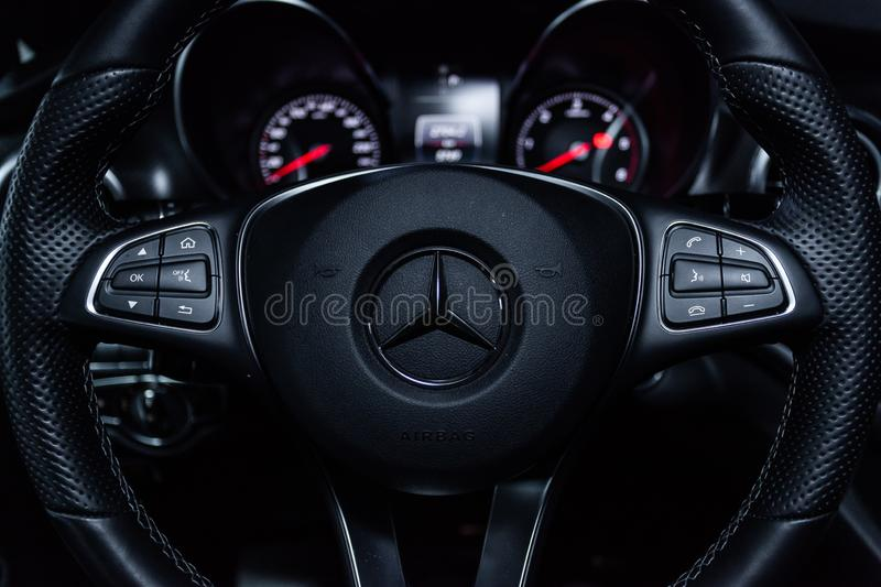 Novosibirsk, Russia - December 04, 2018: Mercedes-Benz v-class royalty free stock photo