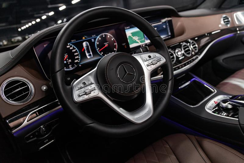 Novosibirsk, Russia - March 15, 2019: Mercedes Maybach S450 4Matic Editorial Stock Photo - Image ...