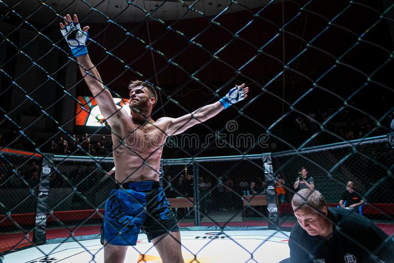 Novosibirsk, Russia September 08, 2019: .Mix Fight Championship Hall of Fame stock photos