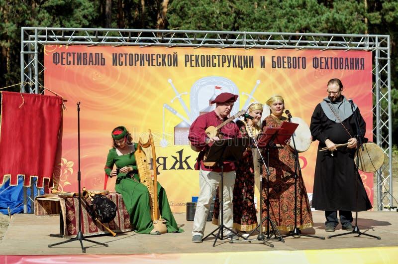 Novosibirsk, Russie - 29 août 2015 : festival de reconstitution historique images stock