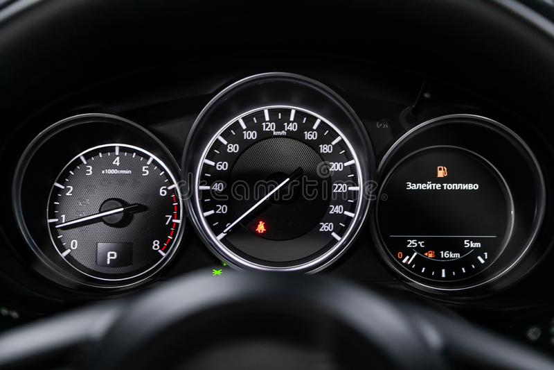 Novosibirsk, Russie – 28 juin 2019 : Mazda CX-5 image libre de droits
