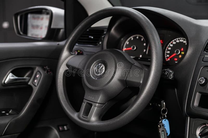 Novosibirsk Ryssland Juli 08, 2019: Volkswagen Polo arkivbilder