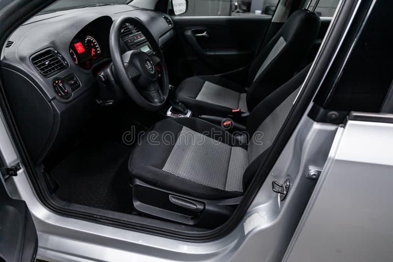 Novosibirsk Ryssland Juli 08, 2019: Volkswagen Polo arkivfoton