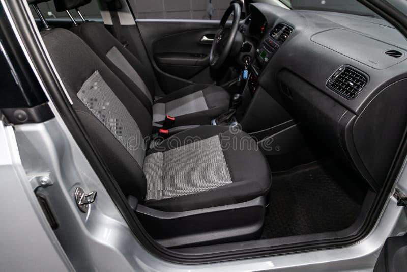 Novosibirsk Ryssland Juli 08, 2019: Volkswagen Polo royaltyfri foto