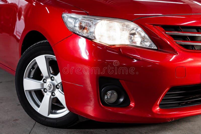 Novosibirsk Ryssland - Maj 31, 2019: Toyota Corolla royaltyfri bild