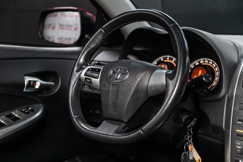 Novosibirsk Ryssland - Maj 31, 2019: Toyota Corolla royaltyfria foton