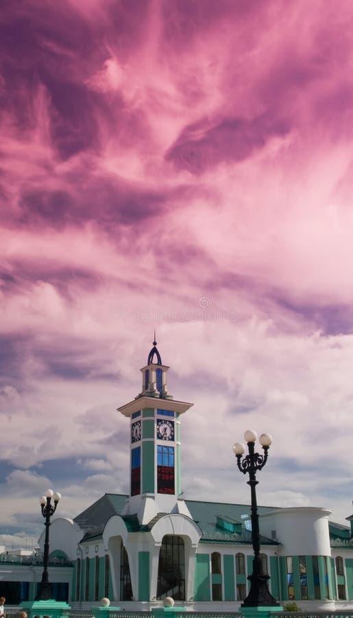 novosibirsk station arkivfoton