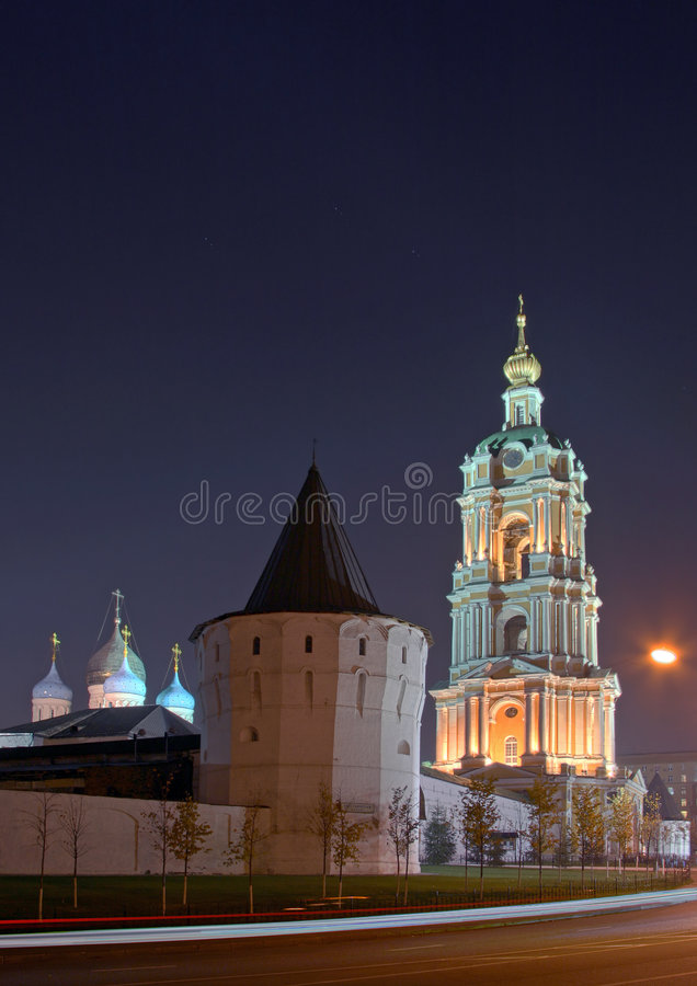novospassky的修道院 免版税库存图片