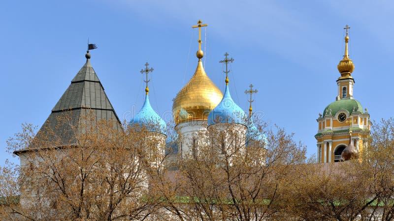 Novospassky kloster (den nya kloster av frälsaren) arkivbilder