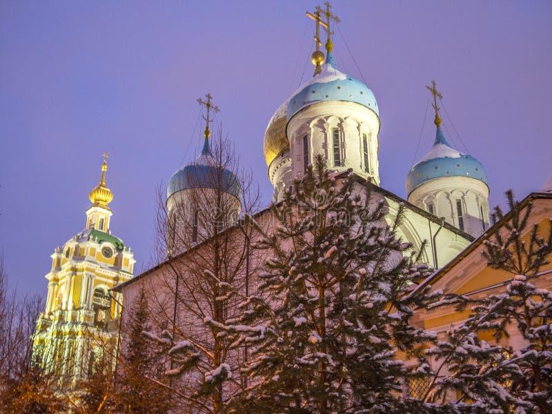 Novospassky monastery stock images