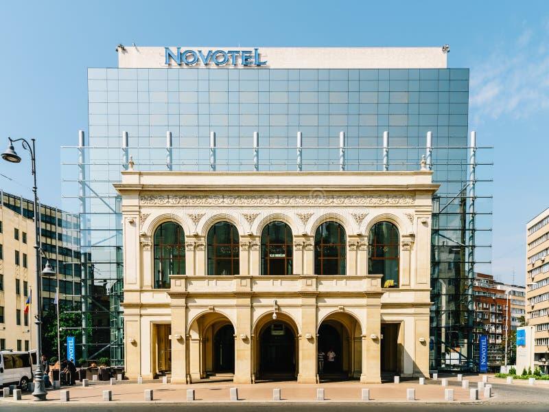Novotel hotell i Bucharest royaltyfri fotografi