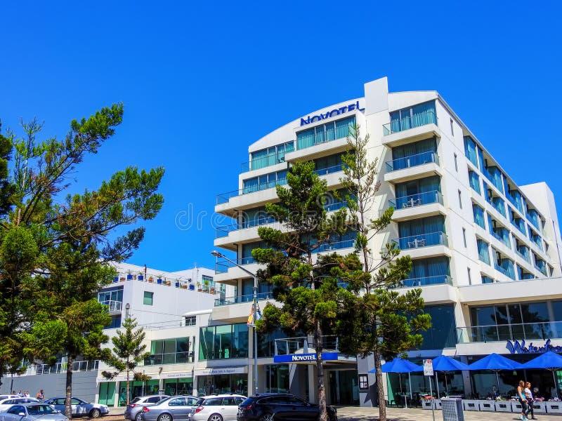 Novotel hotell i Geelong, Victoria, Australien royaltyfria bilder