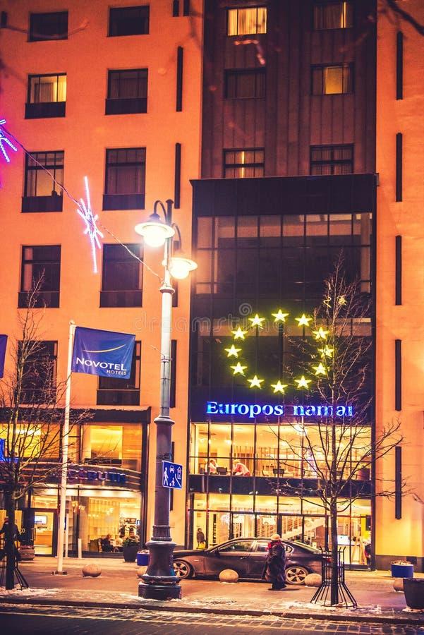 Novotel hotell i Vilnius arkivfoto