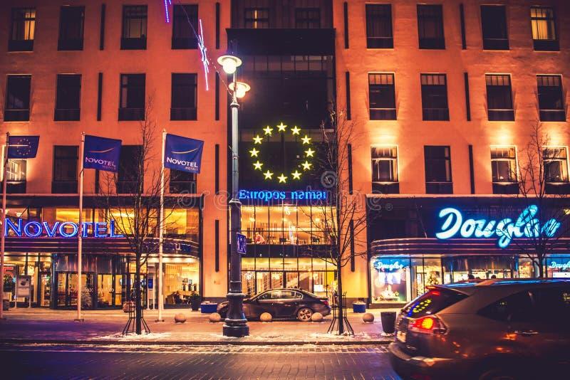 Novotel hotell i Vilnius royaltyfri foto