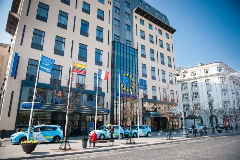 Novotel hotell i Vilnius, Litauen arkivfoto